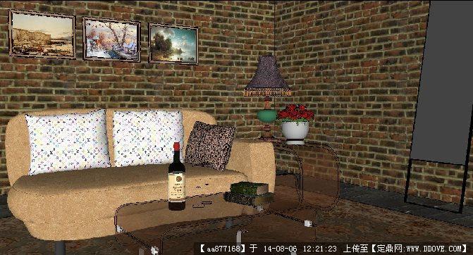 地下室一角室内家装装修方案su草图大师细致设计模型
