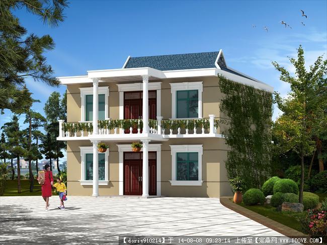 二层别墅建筑规划设计效果图