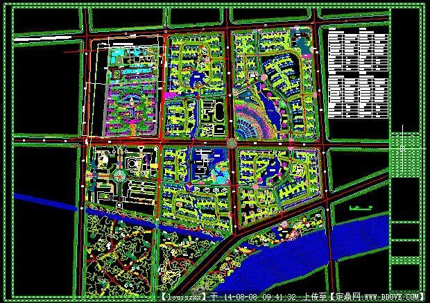 某大型综合小区规划设计总平面图
