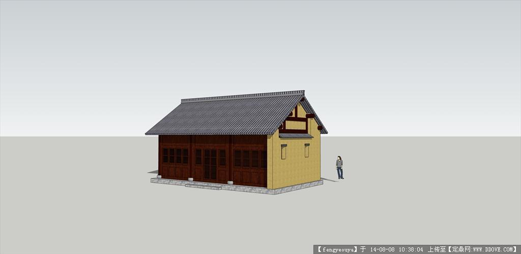 江南民居建筑设计su模型(含内部结构)