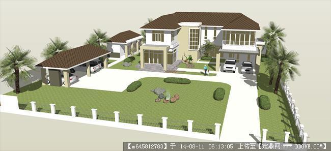 精品模型---农村小别墅规划设计方案模型