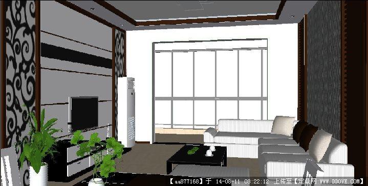 【图】素雅素色中式做旧风格客厅卧室墙纸效果图