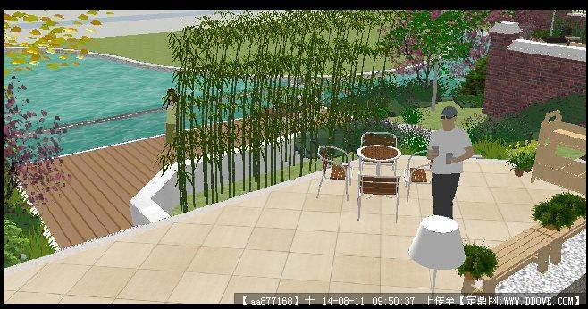 欧式别墅庭院景观设计方案su精细模型