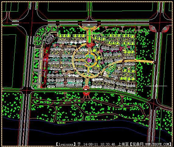 某大型小区规划设计总平面图