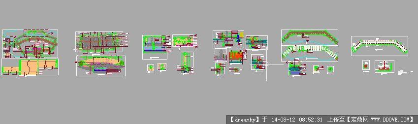 亲水木平台景观设计施工详图