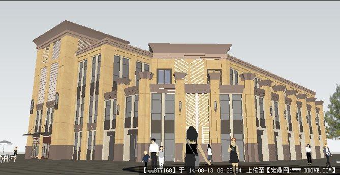 欧式休闲会所酒店建筑规划设计方案su精致设计模型