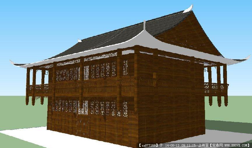 四合小院建筑和景观设计方案su模型 欧式商业街建筑规划设计方案su