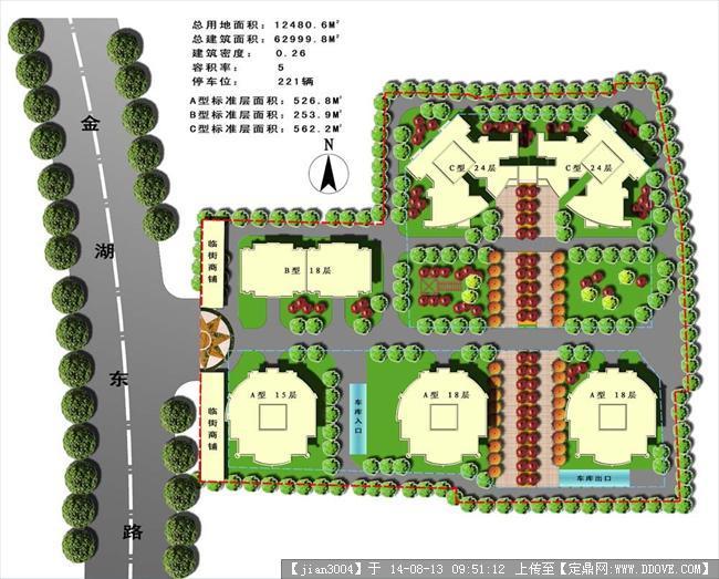 小区局部 景观规划设计 方案 平面图