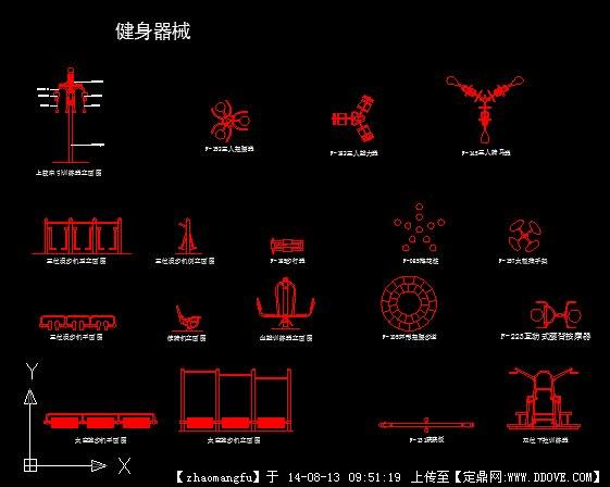 户外健身器材CAD图样win7位安装642012cad失败图片