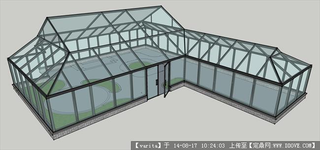 玻璃花房,屋顶阳光房景观设计su模型
