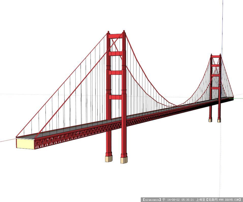 钢结构大桥规划设计su模型