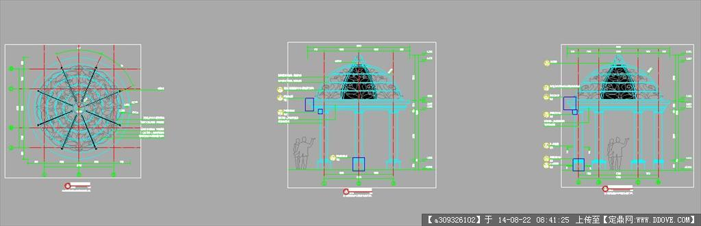 圆亭园林景观设计详图的下载地址,园林施工详图,亭子