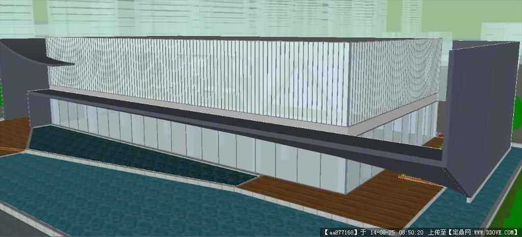 商业展示厅建筑设计方案su细致设计模型
