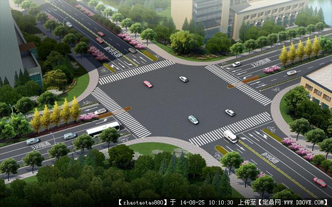 道路园林绿化设计平面-效果图