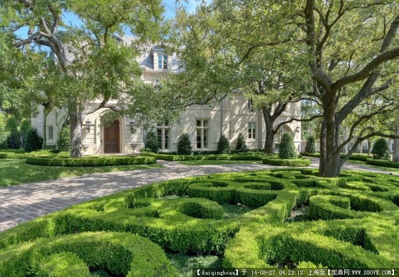 法式豪宅景观设计实景图片的图片浏览,园林项目照片