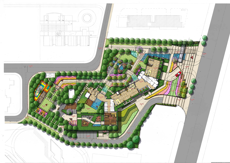 园林景观设计图例手绘展示