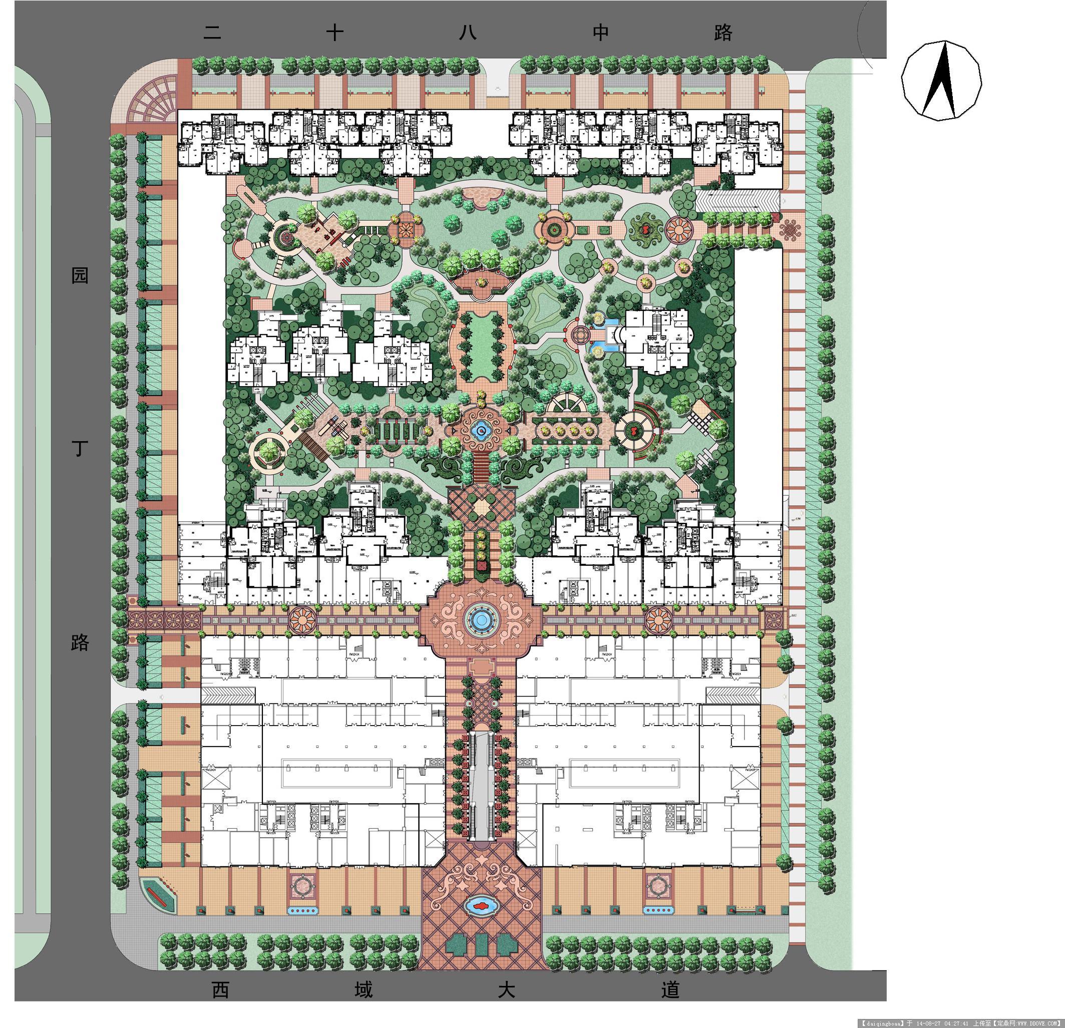 园林景观设计彩平效果图