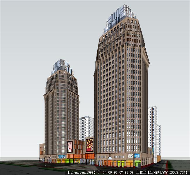 建筑设计方案su模型,该建筑模型设计细致,值得参考.   资料说