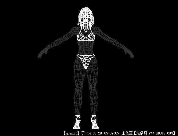 cad三维人体设计图纸