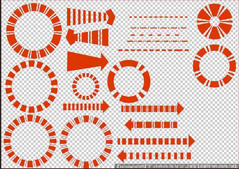 园林景观建筑规划设计多种风格的ps分析符号