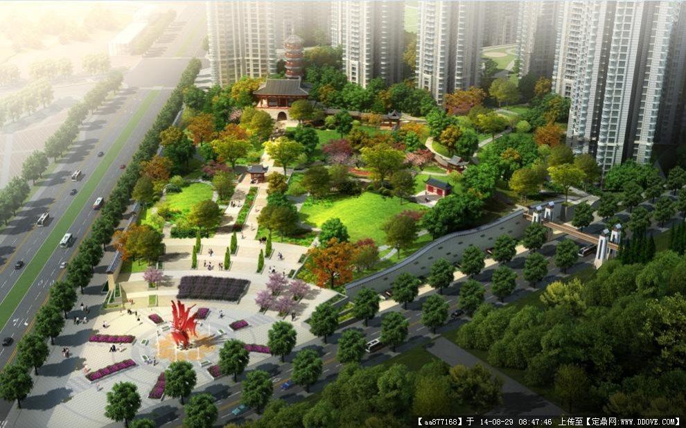 400*300m小游园景观设计平面图