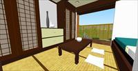 日式室内+庭辽景观设计方案SketchUp精致设计模型