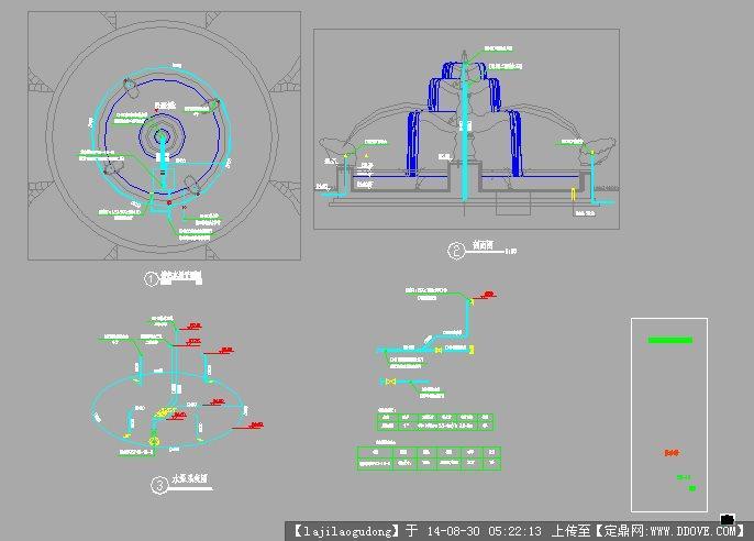 欧式水景景观设计施工图