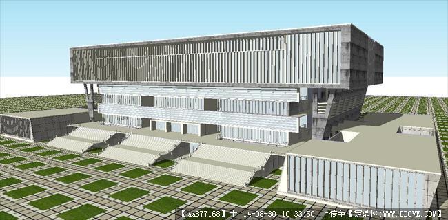 大学体育馆建筑设计精细sketchup模型