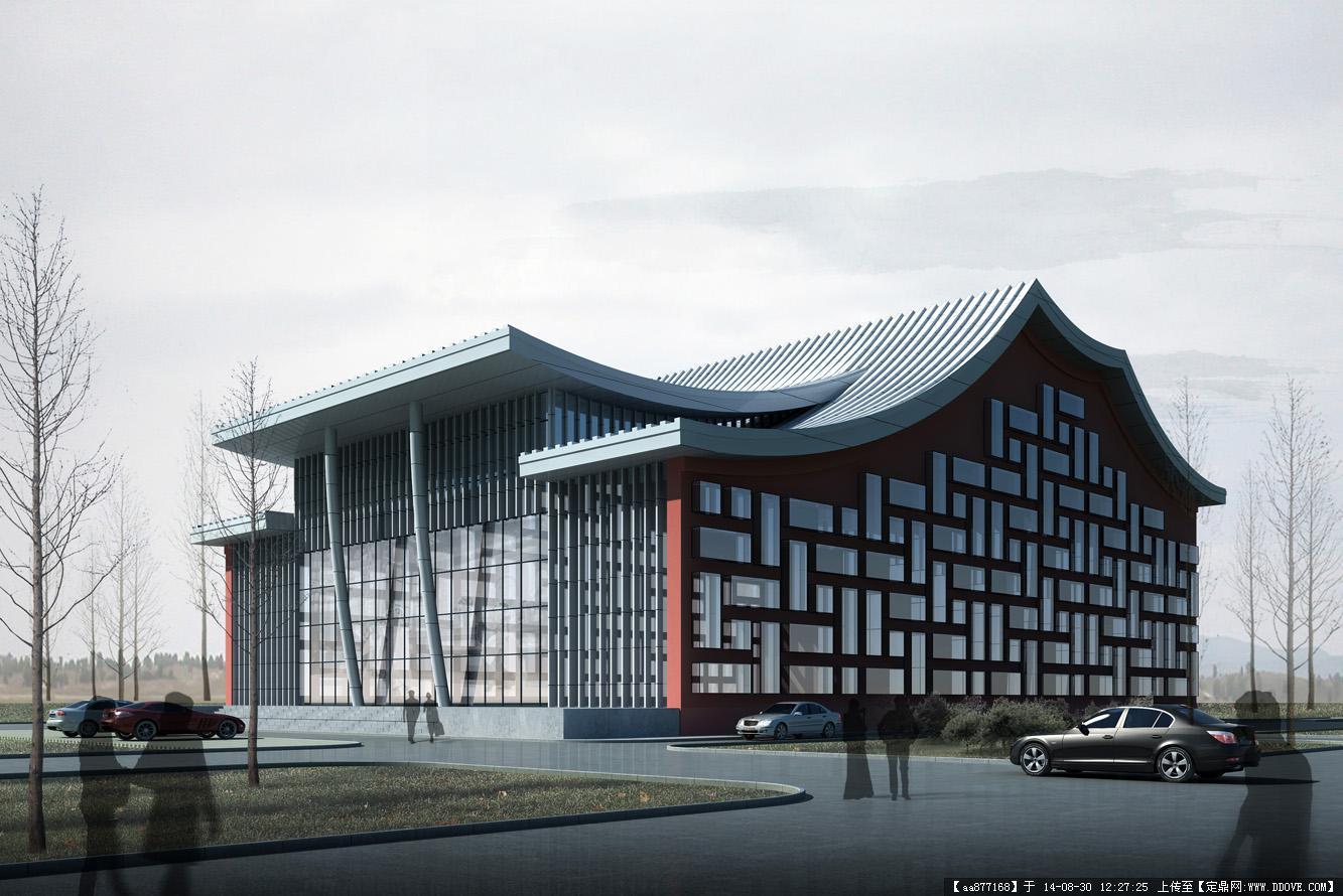 大量的文化建筑设计效果图
