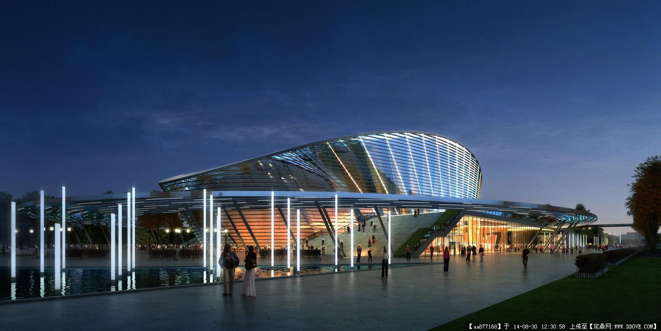 大量的文化建筑设计效果图一