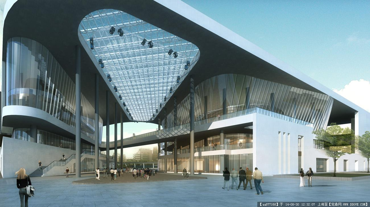 大量的文化建筑設計效果圖一