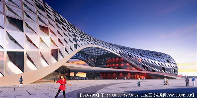 大量的文化建筑设计效果图二