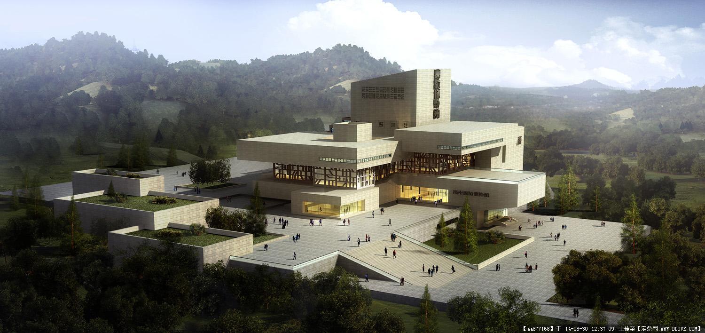 大量的文化建筑設計效果圖二