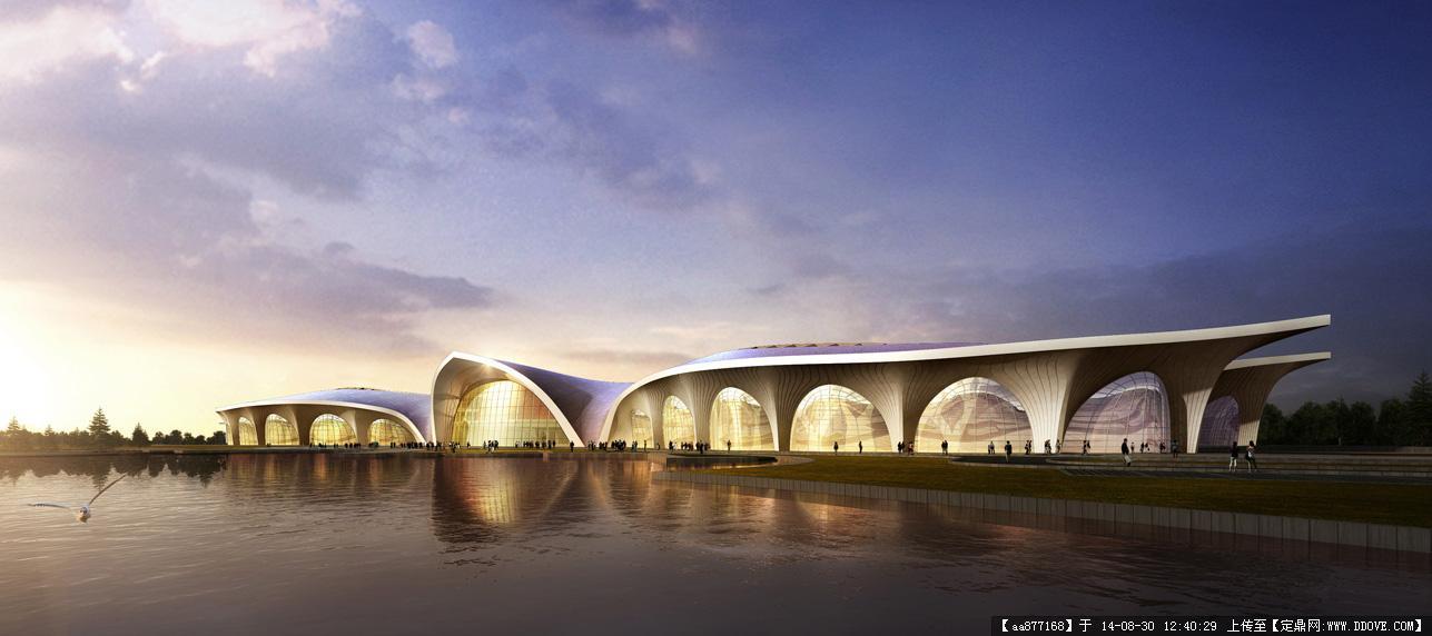 大量的文化建筑设计效果图二图片