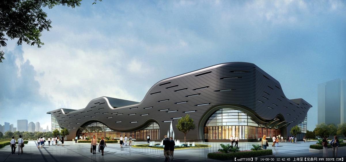 大量的文化建筑设计效果图三