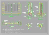 小区围墙景观设计施工图
