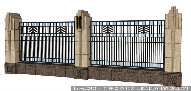 su精品模型 很不错的欧式围墙模型