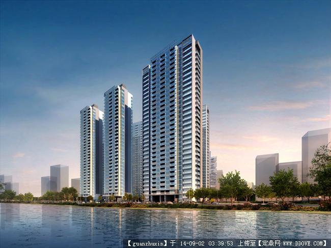 现代风格高层居住建筑精品效果图,很不错的建筑设计效果图.