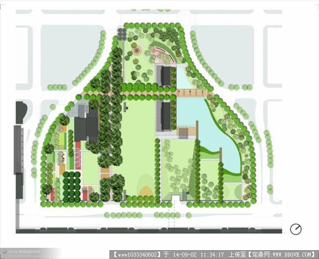 国外园林景观设计平面图表现