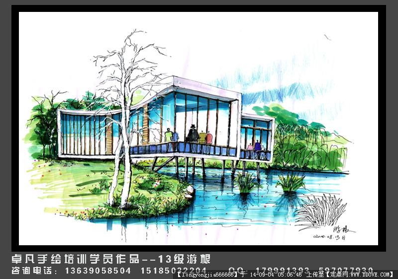 手绘作品集合 建筑 景观 室内的图片浏览,园林效果图