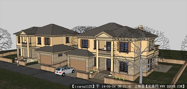 法式别墅建筑设计方案详细模型