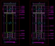 石膏板隔断墙(成品间隔)与原有楼板剖面图