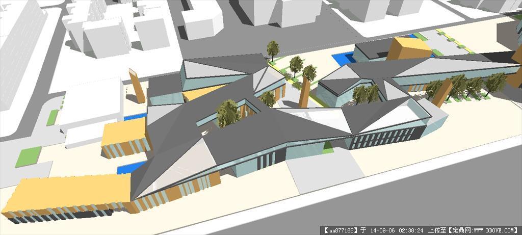 造型新颖大气商业街建筑设计方案精细sketchup模型