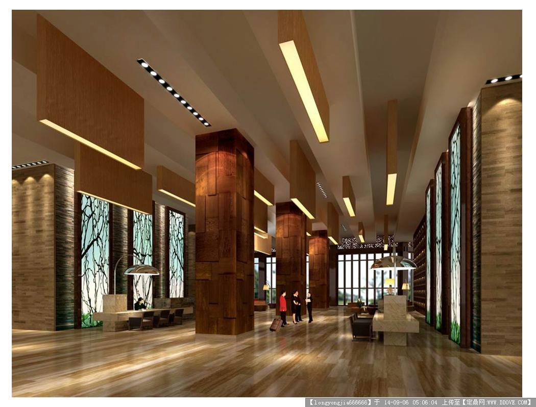 酒店 大堂室内设计效果图 05
