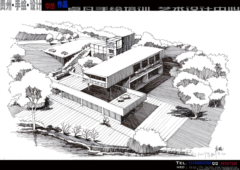 手绘 建筑设计效果图 (高清)