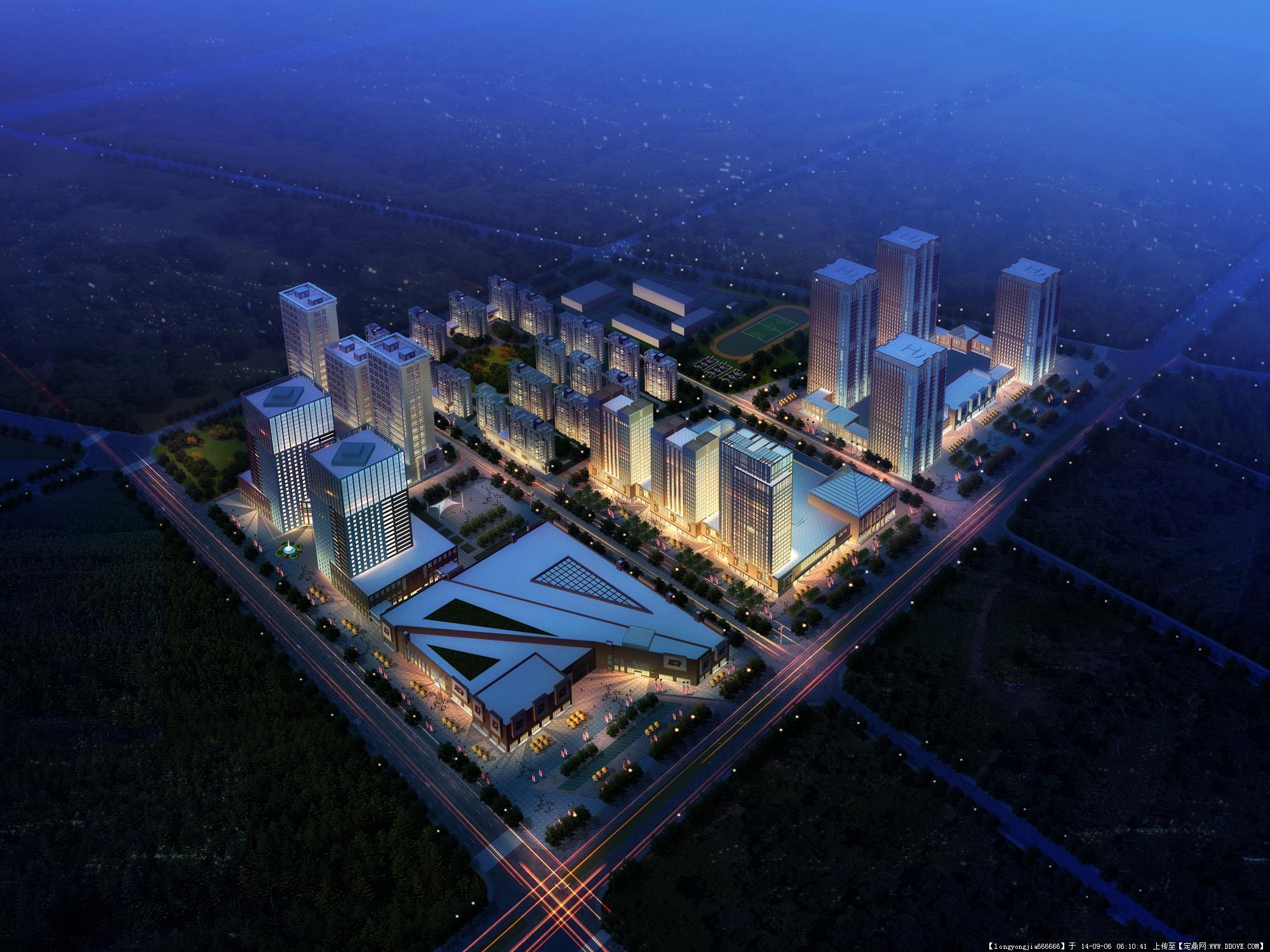 经典城市规划设计鸟瞰效果图 005