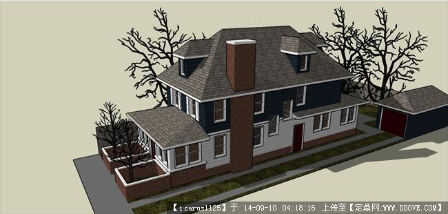 欧式小别墅建筑设计经典su模型