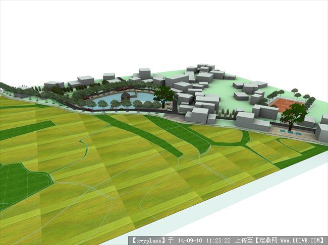 某新农村建设景观环境设计项目含su模型