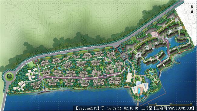 设计文本 居住区 某山庄景观设计方案完整图册ppt