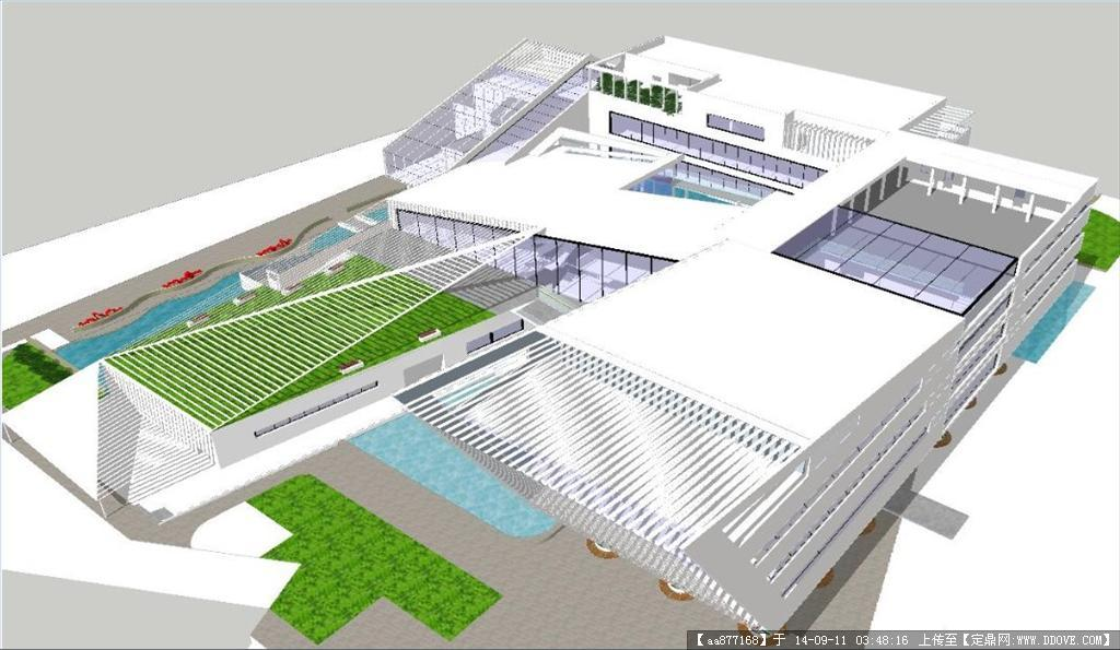 图书馆建筑设计方案精细sketchup模型